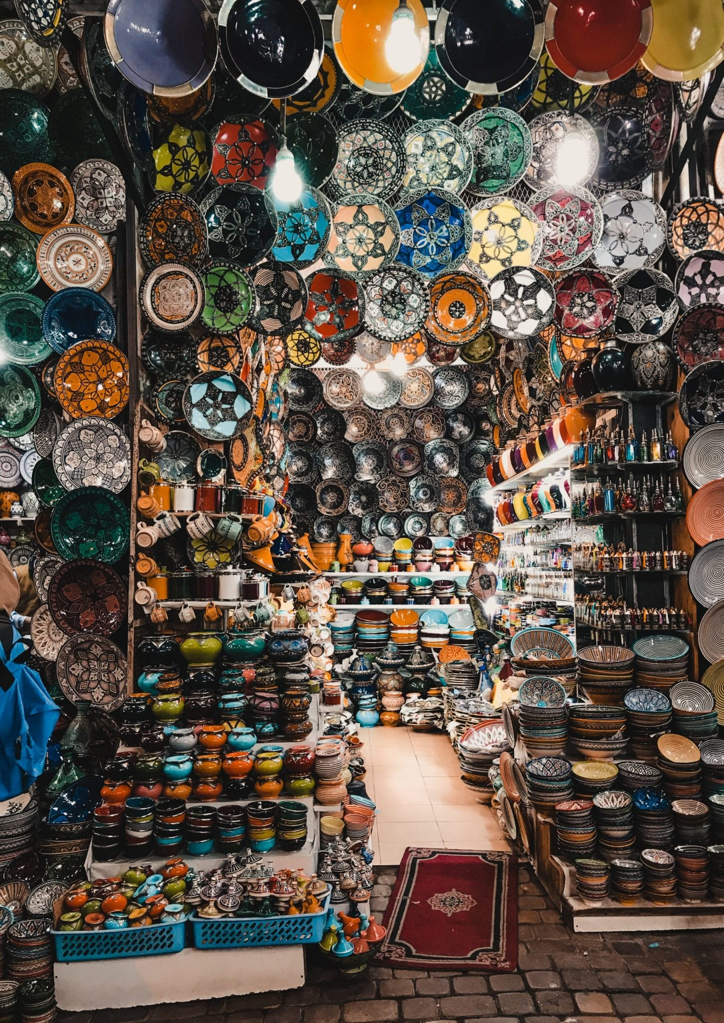 Ceramic shop in Fez, Morocco shopping